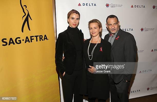 Naomi Wilding Ambassador Elizabeth Taylor AIDS Foundation Gabrielle Carteris President SAGAFTRA and Joel Goldman Managing Director The Elizabeth...