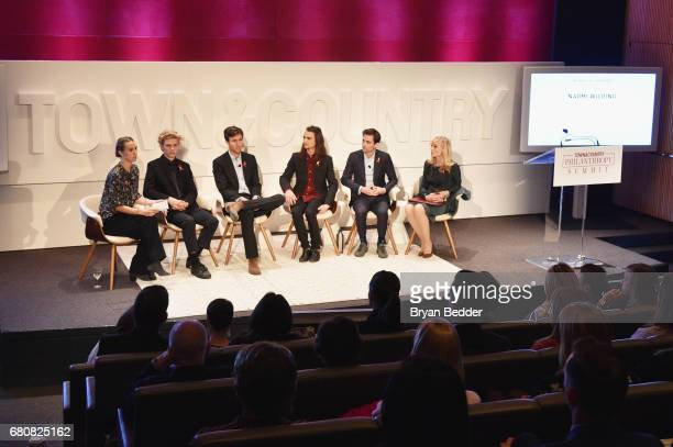 Naomi Wilding Finn McMurray Quinn Tivey Rhys Tivey Tarquin Wilding and Judith Light speak onstage during the 4th Annual Town Country Philanthropy...