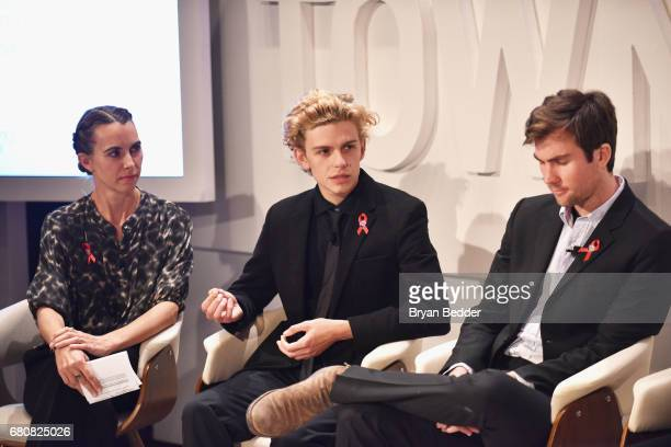 Naomi Wilding Finn McMurray Quinn Tivey speak onstage during the 4th Annual Town Country Philanthropy Summit at Hearst Tower on May 9 2017 in New...
