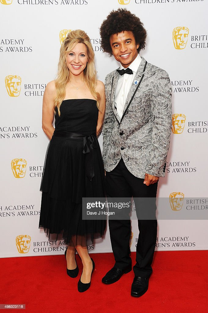 Naomi Wilkinson (L) and Radzi Chinyanganya attend the British Academy Children's Awards at The Roundhouse on November 22, 2015 in London, England.