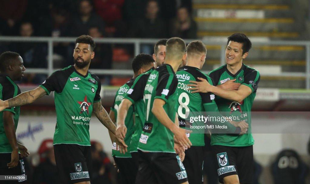 Royal Excel Mouscron v Cercle Brugge - Jupiler Pro League: Play-offs : ニュース写真