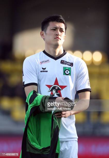 Naomichi Ueda of Cercle during the Jupiler Pro League playoff 2 group B match between WaaslandBeveren and Cercle Brugge on May 11 2019 in Beveren...