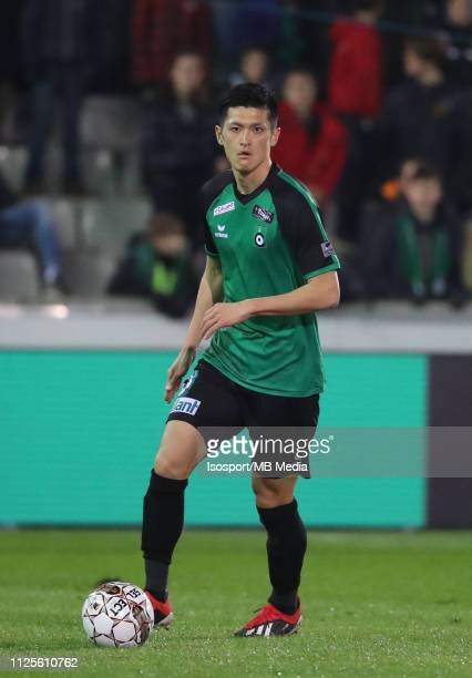 Naomichi Ueda of Cercle in action during the Jupiler Pro League match between Cercle Brugge KSV and SintTruidense VV at Jan Breydel Stadium on...