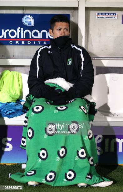 Naomichi Ueda of Cercle pictured during the Jupiler Pro League match between Royal Charleroi SC and Cercle Brugge KSV at Stade du Pays de Charleroi...
