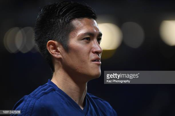 Naomichi Ueda of Japan looks on during the international friendly match between Japan and Costa Rica at Suita City Football Stadium on September 11...