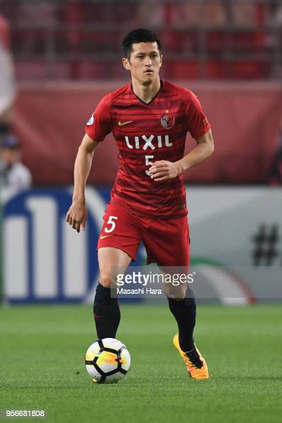 Naomichi Ueda of Kashima Antlers in action during the AFC Champions League Round of 16 first leg match between Kashima Antlers and Shanghai SIPG at...