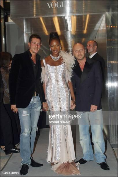 Naomie Campbell with Domenico Dolce and Stephano Gabbana