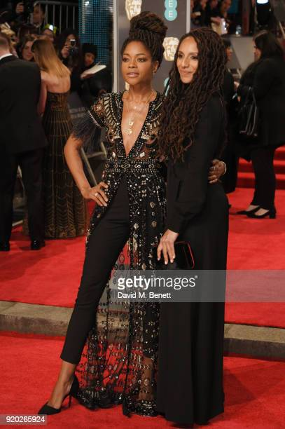 Naomie Harris and Afua Hirsch attend the EE British Academy Film Awards held at Royal Albert Hall on February 18 2018 in London England