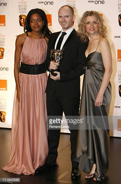 Naomie Harris and AnneMarie Duff during The Orange British Academy Film Awards 2007 Press Room at Royal Opera House in London United Kingdom