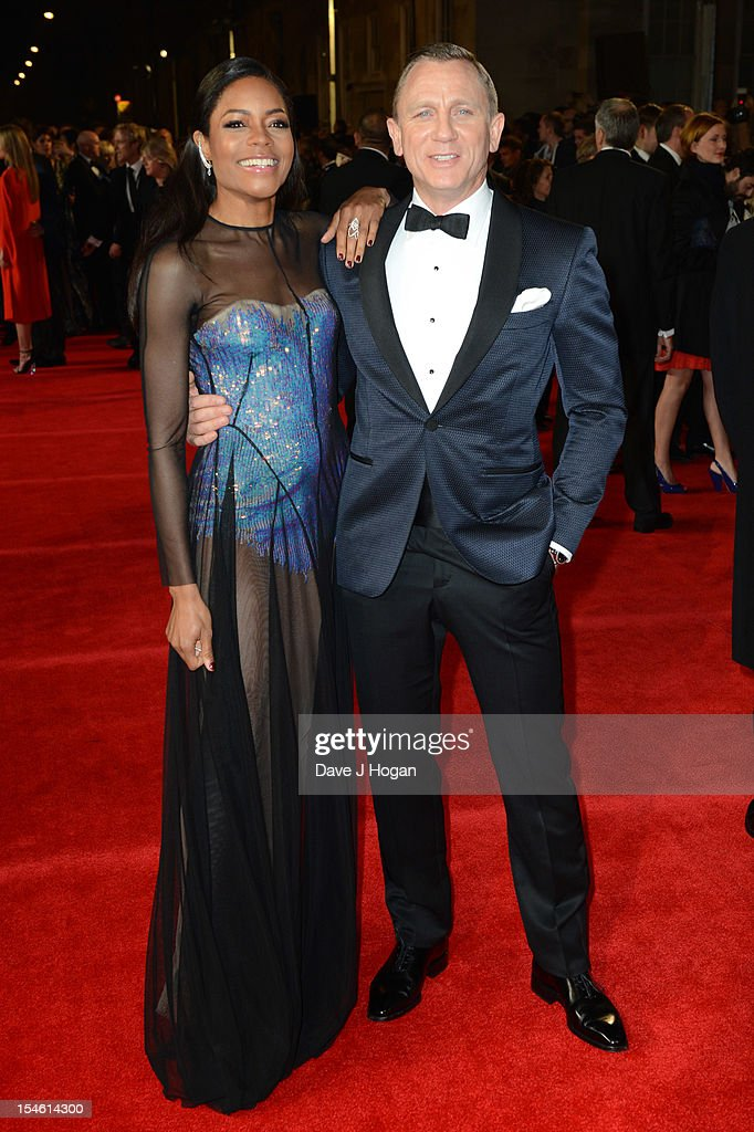 Naomie Harris and Daniel Craig attend the Royal world premiere of 'Skyfall' at The Royal Albert Hall on October 23, 2012 in London, England.
