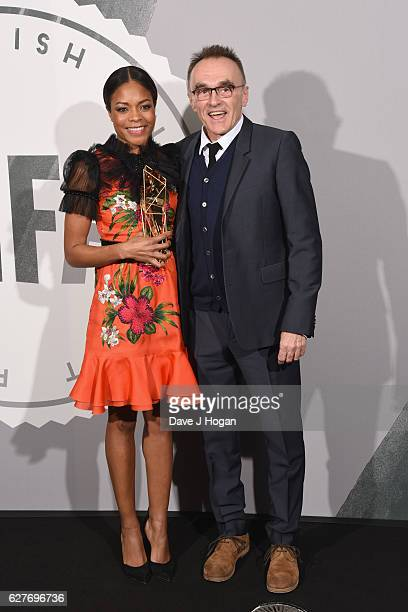 Naomie Harris and Danny Boyle pose at The British Independent Film Awards Old Billingsgate Market on December 4 2016 in London England