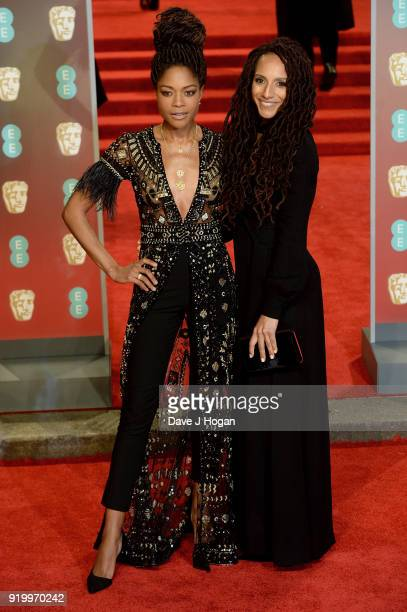 Naomie Harris and guest attend the EE British Academy Film Awards held at Royal Albert Hall on February 18 2018 in London England
