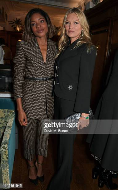 Naomie Harris and Kate Moss attend a private dinner hosted by Michael Kors to celebrate the new Collection Bond St Flagship Townhouse opening on May...
