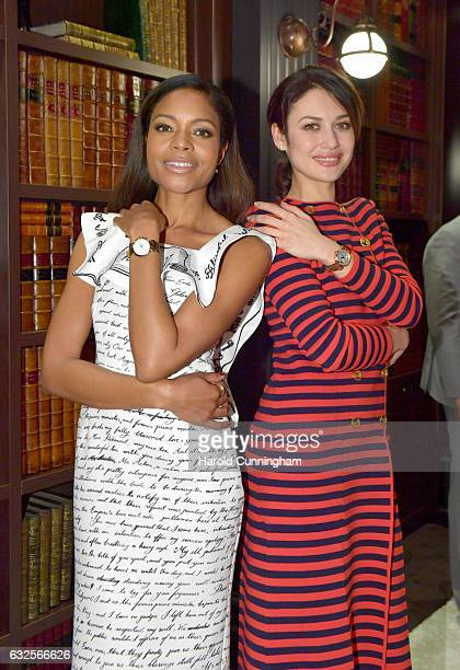 Naomie Harris and Olga Kurylenko visit the IWC booth during the launch of the Da Vinci Novelties from the Swiss luxury watch manufacturer IWC...