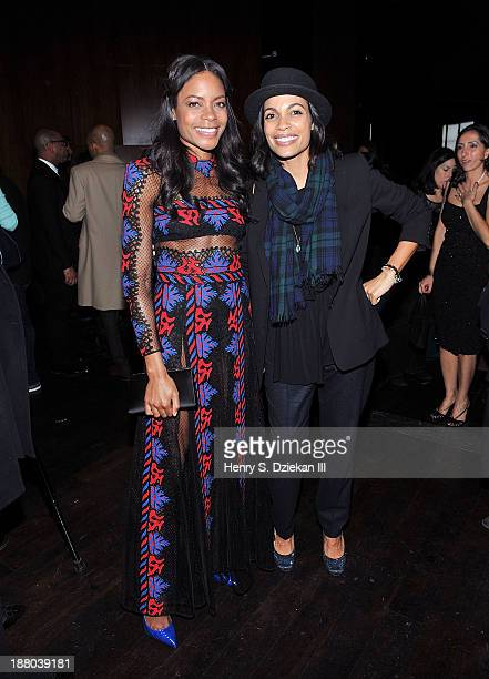 Naomie Harris and Rosario Dawson attend the after party for the New York premiere of Mandela Long Walk to Freedom hosted by The Weinstein Company...