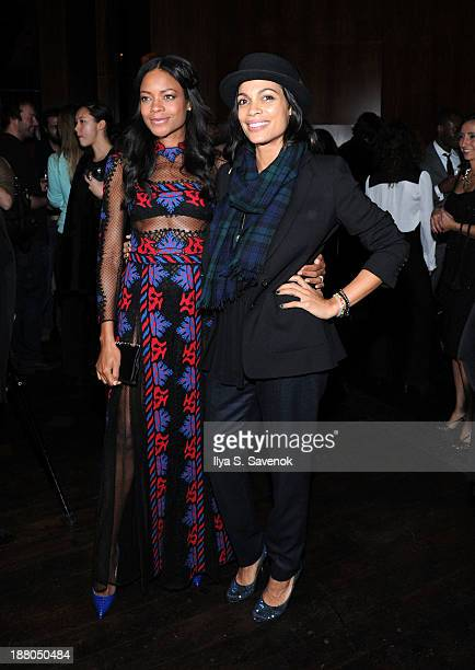 Naomie Harris and Rosario Dawson attend the New York premiere of Mandela Long Walk To Freedom hosted by The Weinstein Company Yucaipa Films and...