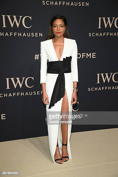 Naomie Harris arrives at IWC Schaffhausen at SIHH 2017 'Decoding the Beauty of Time' Gala Dinner on January 17 2017 in Geneva Switzerland