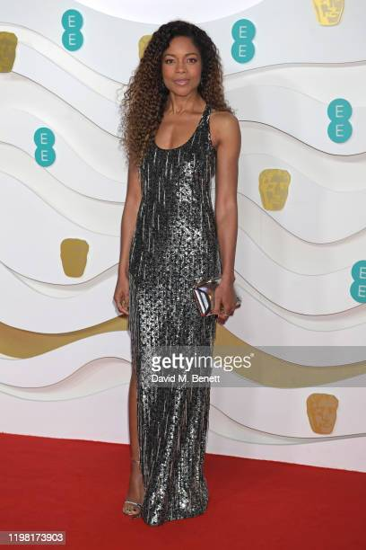 Naomie Harris arrives at the EE British Academy Film Awards 2020 at Royal Albert Hall on February 2 2020 in London England