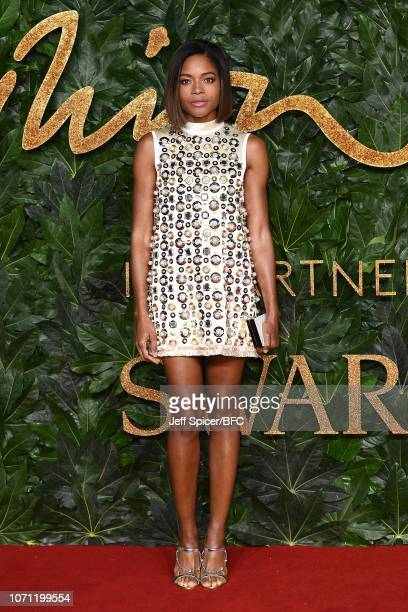Naomie Harris arrives at The Fashion Awards 2018 In Partnership With Swarovski at Royal Albert Hall on December 10 2018 in London England