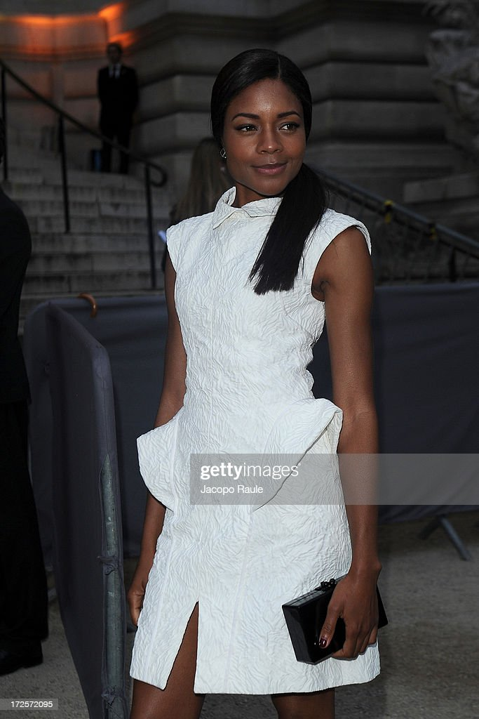 Naomie Harris arrives at 'The Glory Of Water' : Karl Lagerfeld's Exhibition Dinner at Fendi on July 3, 2013 in Paris, France.