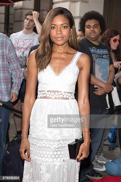 Naomie Harris arrives for The Bodyguard opening night at Dominion Theatre on July 21, 2016 in London, England.