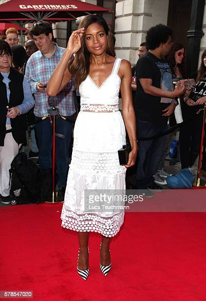 Naomie Harris arrives for The Bodyguard opening night at Dominion Theatre on July 21 2016 in London England