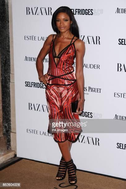 Naomie Harris arriving at Harper's Bazaar Women of the Year Awards at Claridge's Hotel London