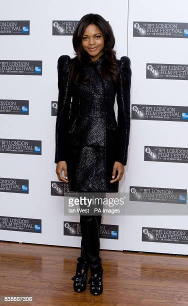 Naomie Harris at a photocall for the film The First Grader at the Vue Cinema London during the 54th BFI London Film Festival
