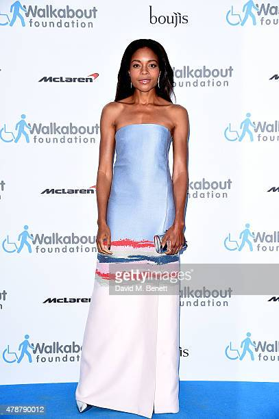 Naomie Harris at the inaugural Walkabout Foundation gala drinks by Boujis London at Natural History Museum on June 27 2015 in London England