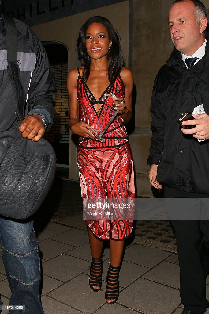 Naomie Harris attending the Harper's Bazaar Women of the Year Awards on November 5, 2013 in London, England.