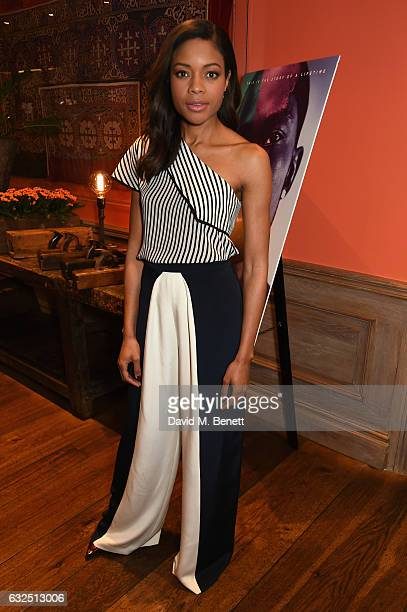 Naomie Harris attends a special screening of 'Moonlight' featuring a QA with cast members Naomie Harris and Alex Hibbert at The Soho Hotel on January...
