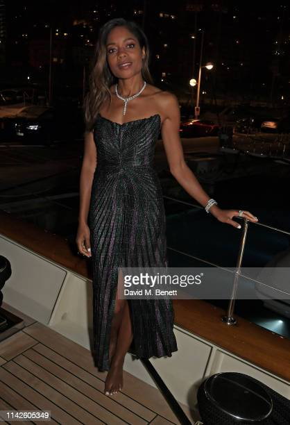 Naomie Harris attends an exclusive dinner celebrating the ABB FIA Formula E 2019 Monaco EPrix aboard a private yacht on May 10 2019 in Monaco