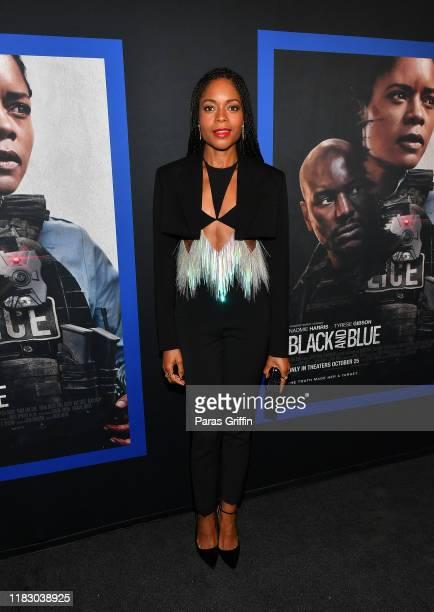 Naomie Harris attends Black and Blue Atlanta special screening at The Plaza Theatre on October 23 2019 in Atlanta Georgia