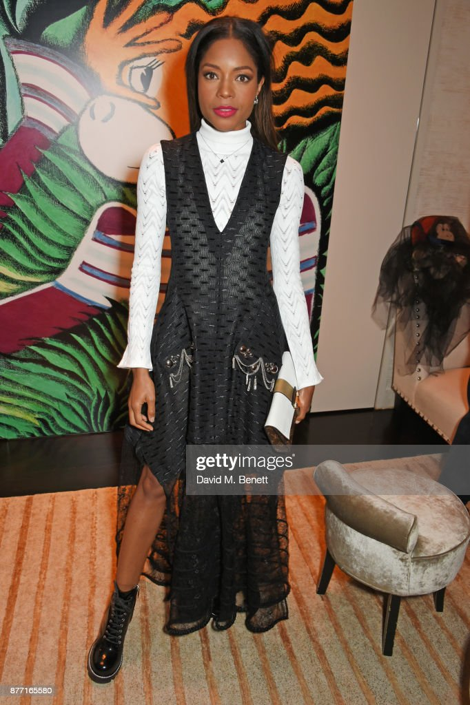 Naomie Harris attends Louis Vuittons Celebration of GingerNutz in Vogue's December Issue on November 21, 2017 in London, England.
