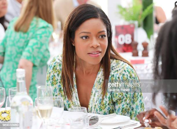 Naomie Harris attends the Audi Polo Challenge at Coworth Park Polo Club on July 1 2018 in Ascot England