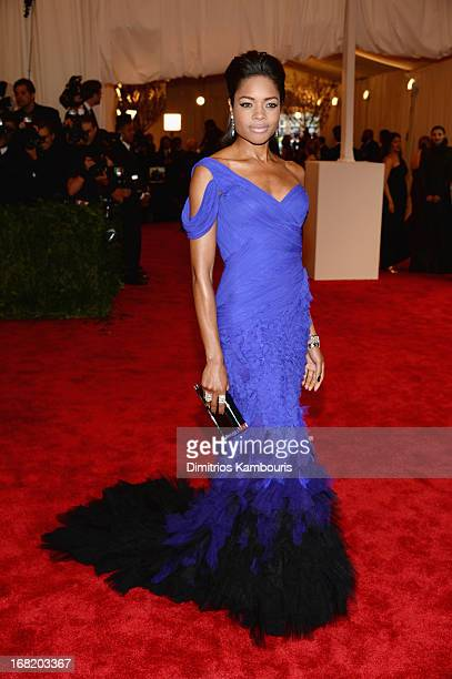 Naomie Harris attends the Costume Institute Gala for the PUNK Chaos to Couture exhibition at the Metropolitan Museum of Art on May 6 2013 in New York...