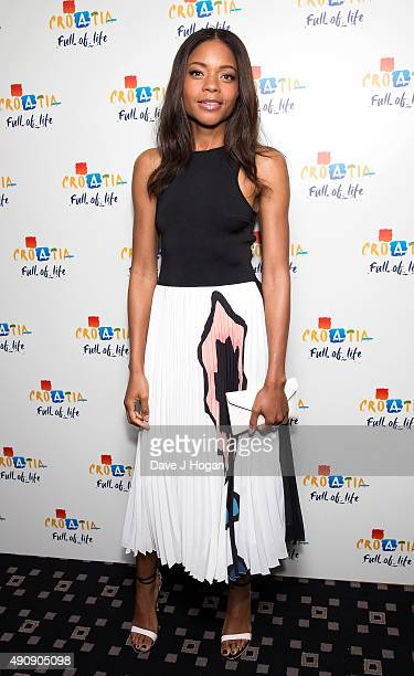 Naomie Harris attends the Croatia 'Full of Life' floating island party on London's River Thames on Butler's Wharf on October 1 2015 in London England
