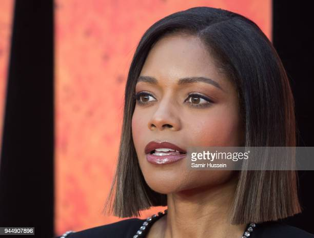 Naomie Harris attends the European Premiere of 'Rampage' at Cineworld Leicester Square on April 11 2018 in London England