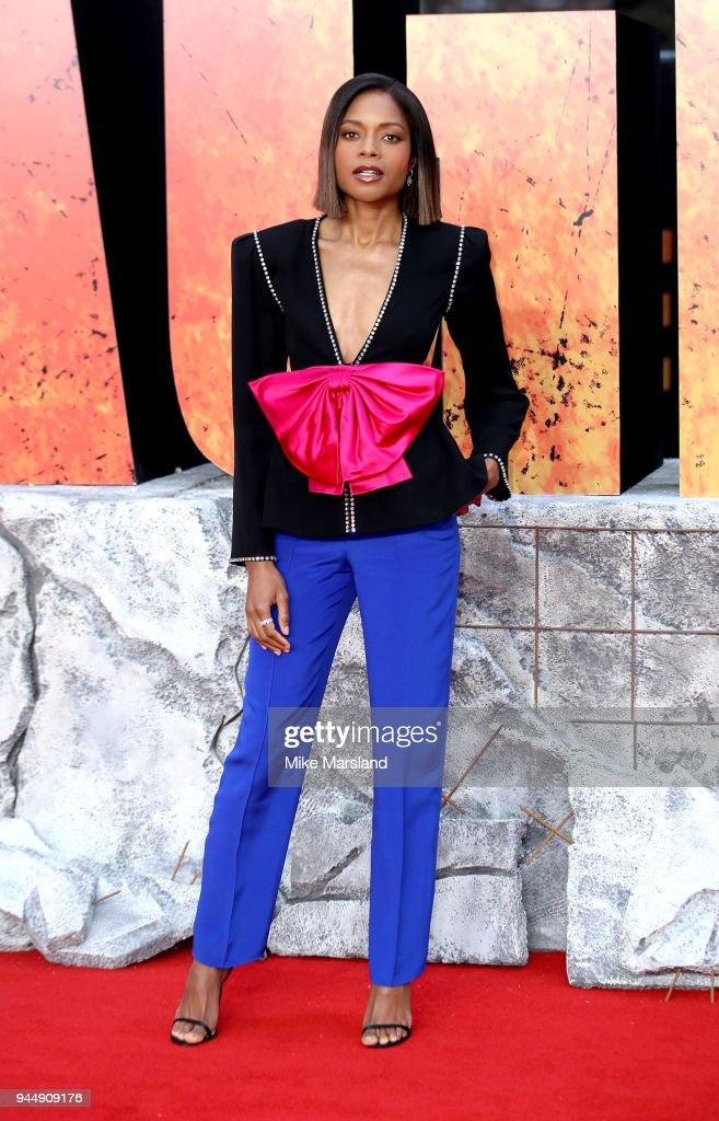 Naomie Harris attends the European Premiere of 'Rampage' at Cineworld Leicester Square on April 11, 2018 in London, England.