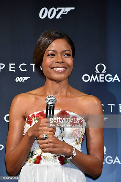 Naomie Harris attends the event celebrating the OMEGA SPECTRE Japan release on November 30 2015 in Tokyo Japan