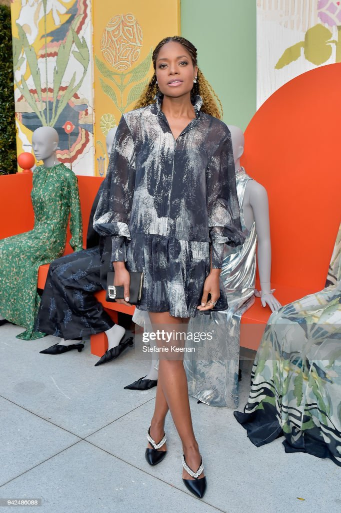 Naomie Harris attends the H&M celebration of 2018 Conscious Exclusive collection at John Lautner's Harvey House on April 5, 2018 in Los Angeles, California.