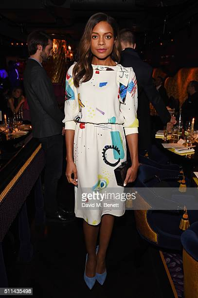 Naomie Harris attends the Marc Jacobs Beauty dinner at the Club at Park Chinois on February 20 2016 in London England