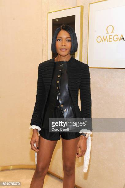 Naomie Harris attends the opening of the OMEGA 'Her Time' popup boutique with Naomie Harris on December 7 2017 in New York City