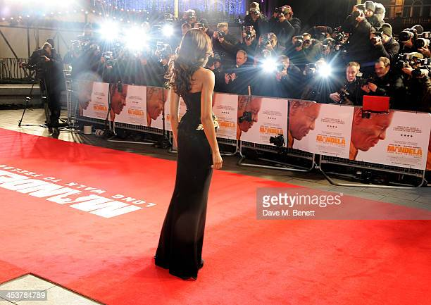 """Naomie Harris attends the Royal Film Performance of """"Mandela: Long Walk to Freedom"""" at Odeon Leicester Square on December 5, 2013 in London, United..."""