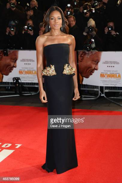 Naomie Harris attends the Royal film performance of Mandela Long Walk To Freedom at The Odeon Leicester Square on December 5 2013 in London England