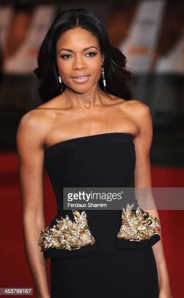 Naomie Harris attends the Royal film performance of Mandela Long Walk To Freedom at Odeon Leicester Square on December 5 2013 in London United Kingdom