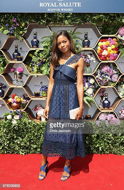 Naomie Harris attends the Royal Salute Coronation Cup at Guards Polo Club on July 23 2016 in Egham England