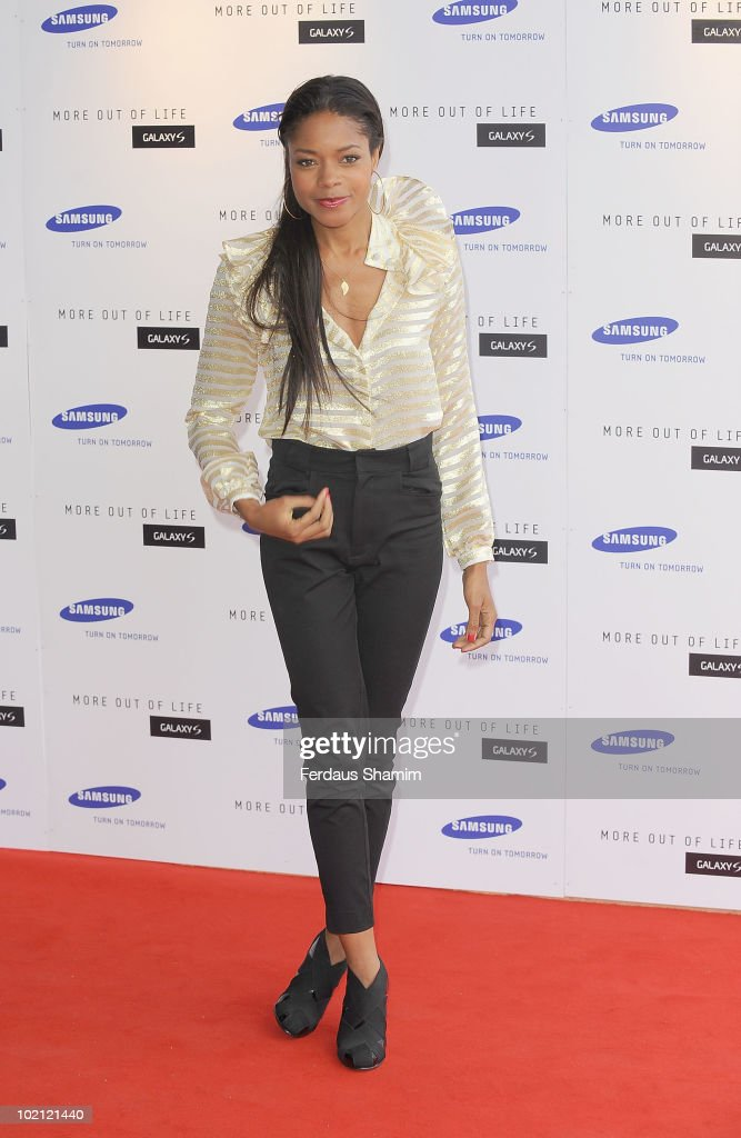 Naomie Harris attends the Samsung Galaxy S launch on June 15, 2010 in London, England.