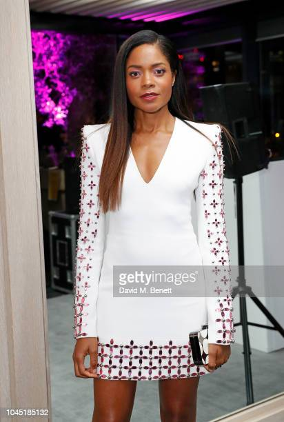 Naomie Harris attends the unveiling of new Guggi sculpture at Embassy Gardens hosted by Ballymore and Harper's Bazaar as part of Bazaar Art Week on...