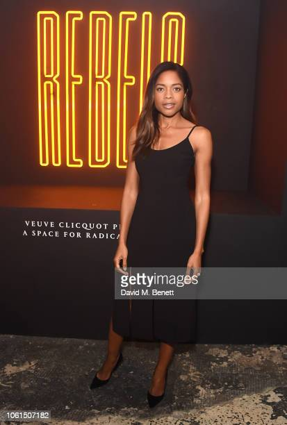 Naomie Harris attends The Veuve Clicquot Widow Series 'Rebels' Narrated by Tom Hingston at London's Bargehouse at OXO Tower on November 14 2018 in...